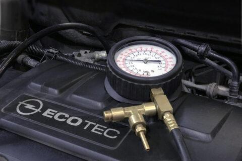 Замер давления топлива Opel