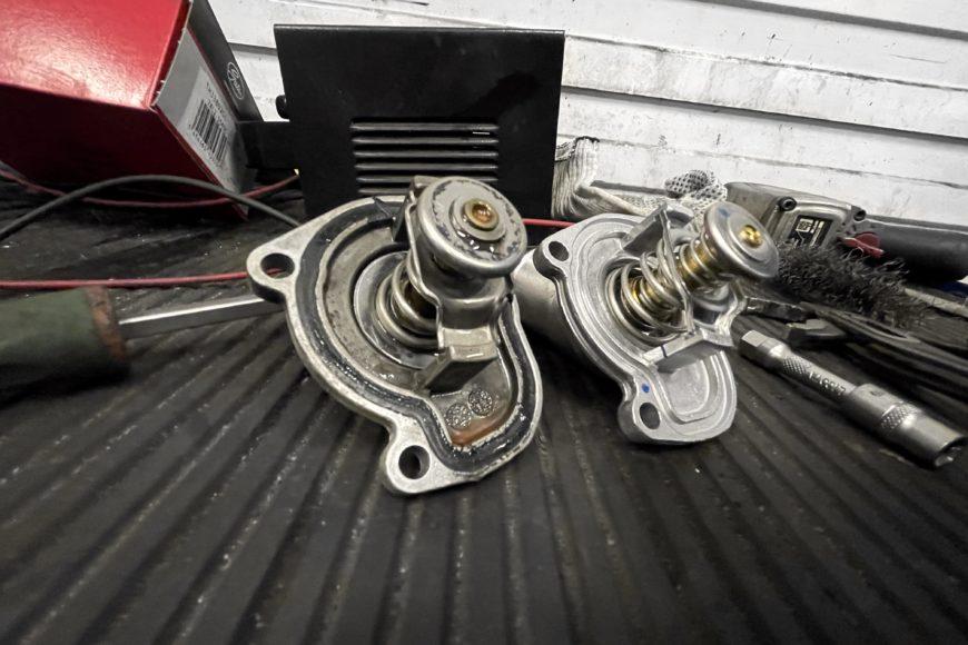Замена термостата на Opel Meriva