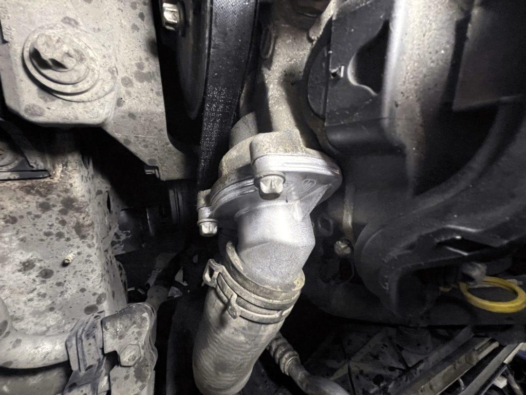 Замена термостат Opel Meriva