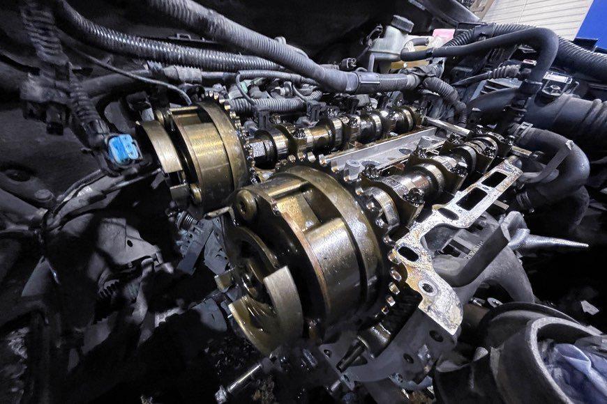 Замена цепи ГРМ на Opel Astra J 1.4 turbo